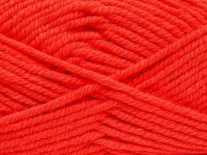 Fiber Content 70% Acrylic, 30% Wool, Neon Orange, Brand Ice Yarns, fnt2-65723