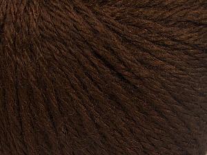 Fiber Content 40% Acrylic, 40% Merino Wool, 20% Polyamide, Brand Ice Yarns, Dark Brown, fnt2-65728