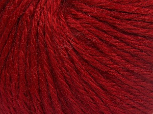 Fiber Content 40% Acrylic, 40% Merino Wool, 20% Polyamide, Brand Ice Yarns, Dark Red, fnt2-65738