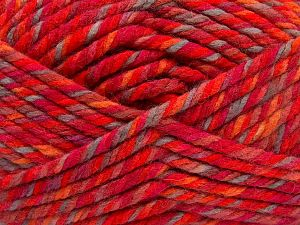 Fiber Content 75% Acrylic, 25% Superwash Wool, Red, Orange Shades, Light Camel, Brand Ice Yarns, fnt2-65763