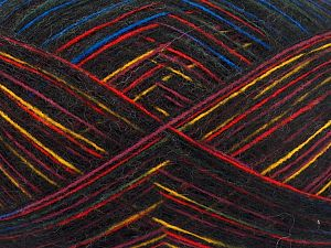 Fiber Content 7% Merino Wool, 35% Polyamide, 30% Baby Alpaca, 28% Acrylic, Yellow, Red, Pink, Brand Ice Yarns, Blue, Black, fnt2-65796