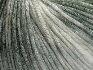 Fiber Content 50% Modal, 35% Acrylic, 15% Wool, White, Brand Ice Yarns, Green Shades, fnt2-65847