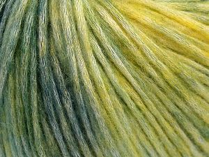 Fiber Content 50% Modal, 35% Acrylic, 15% Wool, Yellow, Brand Ice Yarns, Green Shades, fnt2-65848