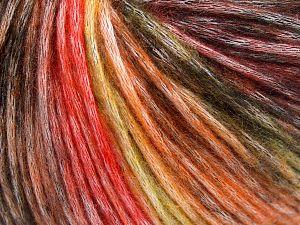 Fiber Content 50% Modal, 35% Acrylic, 15% Wool, Yellow, Orange Shades, Brand Ice Yarns, Black, fnt2-65849