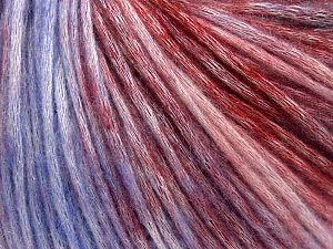 Fiber Content 50% Modal, 35% Acrylic, 15% Wool, Lilac Shades, Brand Ice Yarns, Burgundy Shades, fnt2-65852