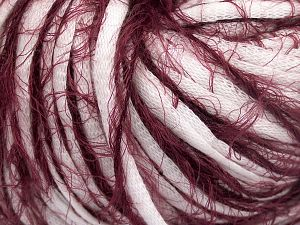 Fiber Content 50% Cotton, 50% Polyamide, White, Brand Ice Yarns, Burgundy, fnt2-65884