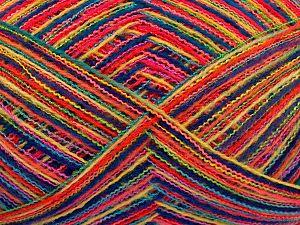 Fiber Content 80% Acrylic, 20% Polyamide, Rainbow, Brand Ice Yarns, fnt2-65885