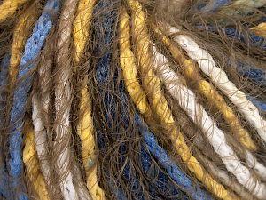 Fiber Content 60% Acrylic, 40% Polyamide, Yellow, White, Khaki, Brand Ice Yarns, Blue, fnt2-65890