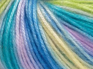 İçerik 56% Polyester, 44% Akrilik, Yellow, Turquoise, Lilac, Light Green, Brand Ice Yarns, Yarn Thickness 4 Medium  Worsted, Afghan, Aran, fnt2-65917