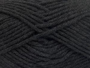 Fiber Content 50% Acrylic, 50% Merino Wool, Brand Ice Yarns, Anthracite Black, fnt2-65939