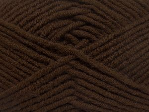 Fiber Content 50% Acrylic, 50% Merino Wool, Brand Ice Yarns, Dark Brown, fnt2-65942