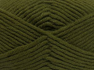 Fiber Content 50% Acrylic, 50% Merino Wool, Brand Ice Yarns, Dark Khaki, fnt2-65950