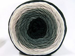 Fiber Content 100% Acrylic, Brand Ice Yarns, Green Shades, Cream, Black, fnt2-65976