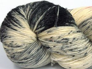 Please note that this is a hand-dyed yarn. Colors in different lots may vary because of the charateristics of the yarn. Also see the package photos for the colorway in full; as skein photos may not show all colors. Fiber Content 75% Super Wash Wool, 25% Polyamide, Orange, Brand Ice Yarns, Grey, Cream, Black, fnt2-66005