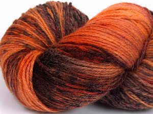 Please note that this is a hand-dyed yarn. Colors in different lots may vary because of the charateristics of the yarn. Also see the package photos for the colorway in full; as skein photos may not show all colors. Fiber Content 75% Super Wash Wool, 25% Polyamide, Orange Shades, Brand Ice Yarns, Brown, fnt2-66010