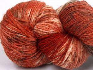 Please note that this is a hand-dyed yarn. Colors in different lots may vary because of the charateristics of the yarn. Also see the package photos for the colorway in full; as skein photos may not show all colors. Fiber Content 75% Super Wash Wool, 25% Polyamide, Brand Ice Yarns, Cream, Copper, Brown Shades, fnt2-66027