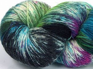 Please note that this is a hand-dyed yarn. Colors in different lots may vary because of the charateristics of the yarn. Also see the package photos for the colorway in full; as skein photos may not show all colors. Fiber Content 75% Super Wash Wool, 25% Polyamide, Turquoise Shades, Brand Ice Yarns, Green Shades, Fuchsia, Cream, fnt2-66033