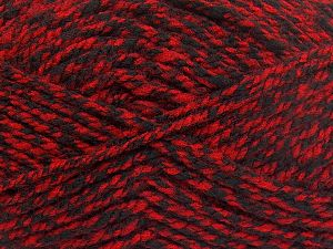 Bulky  Fiber Content 100% Acrylic, Red, Brand Ice Yarns, Black, fnt2-66047
