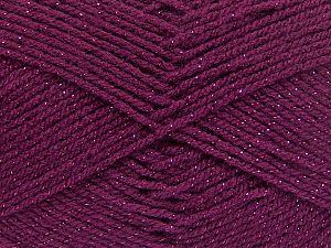 Fiberinnehåll 94% Akryl, 6% metalliskt Lurex, Brand Ice Yarns, Burgundy, fnt2-66071