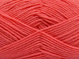 Fiber Content 60% Merino Wool, 40% Acrylic, Salmon, Brand Ice Yarns, fnt2-66089