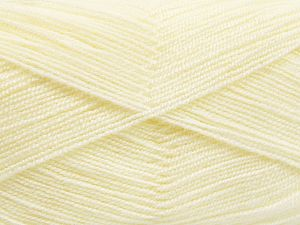 Very thin yarn. It is spinned as two threads. So you will knit as two threads. Yardage information is for only one strand. Fiber Content 100% Acrylic, Light Cream, Brand Ice Yarns, fnt2-66127