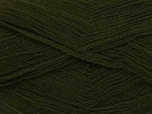 Very thin yarn. It is spinned as two threads. So you will knit as two threads. Yardage information is for only one strand. Fiber Content 100% Acrylic, Brand Ice Yarns, Dark Khaki, fnt2-66138