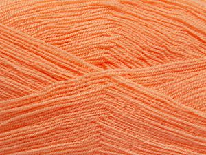 Very thin yarn. It is spinned as two threads. So you will knit as two threads. Yardage information is for only one strand. Fiber Content 100% Acrylic, Salmon, Brand Ice Yarns, fnt2-66152