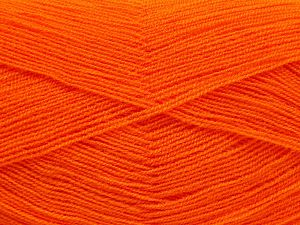 Very thin yarn. It is spinned as two threads. So you will knit as two threads. Yardage information is for only one strand. Fiber Content 100% Acrylic, Orange, Brand Ice Yarns, fnt2-66157