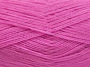 Very thin yarn. It is spinned as two threads. So you will knit as two threads. Yardage information is for only one strand. Fiber Content 100% Acrylic, Light Lilac, Brand Ice Yarns, fnt2-66164