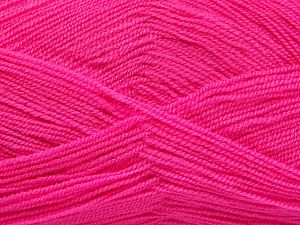 Very thin yarn. It is spinned as two threads. So you will knit as two threads. Yardage information is for only one strand. Fiber Content 100% Acrylic, Brand Ice Yarns, Candy Pink, fnt2-66166