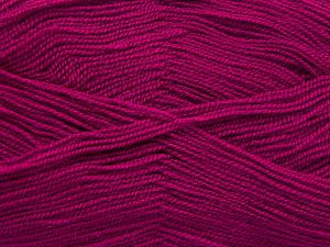 Very thin yarn. It is spinned as two threads. So you will knit as two threads. Yardage information is for only one strand. Fiber Content 100% Acrylic, Brand Ice Yarns, Dark Fuchsia, fnt2-66170