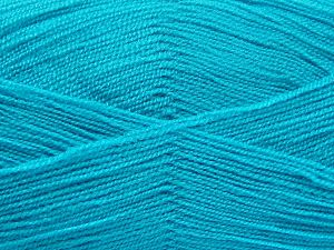 Very thin yarn. It is spinned as two threads. So you will knit as two threads. Yardage information is for only one strand. Fiber Content 100% Acrylic, Turquoise, Brand Ice Yarns, fnt2-66184