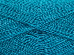 Very thin yarn. It is spinned as two threads. So you will knit as two threads. Yardage information is for only one strand. Fiber Content 100% Acrylic, Turquoise, Brand Ice Yarns, fnt2-66185