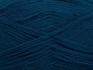 Very thin yarn. It is spinned as two threads. So you will knit as two threads. Yardage information is for only one strand. Fiber Content 100% Acrylic, Brand Ice Yarns, Dark Teal, fnt2-66186