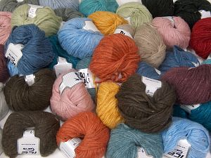 SoftAir Tweed This mixed lot includes a total of 2000 gr (70.5 oz.) yarn. There is no standard for ball weight. You will get what you see in the photo. İçerik 88% Akrilik, 8% Polyamid, 4% Viskon, Brand Ice Yarns, fnt2-66236
