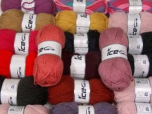 Acrylic Types This mixed lot includes a total of 2000 gr (70.5 oz.) yarn. There is no standard for ball weight. Also disregard any information on the labels. You will get what you see in the photo. Brand Ice Yarns, fnt2-66239