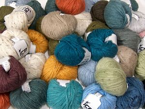 SoftAir Tweed This mixed lot includes a total of 2000 gr (70.5 oz.) yarn. There is no standard for ball weight. You will get what you see in the photo. İçerik 88% Akrilik, 8% Polyamid, 4% Viskon, Brand Ice Yarns, fnt2-66240