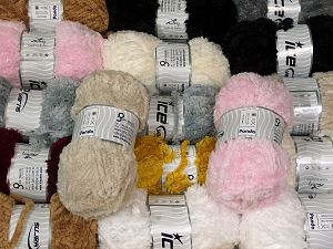 Panda This mixed lot includes a total of 2000 gr (70.5 oz.) yarn. There is no standard for ball weight. You will get what you see in the photo. İçerik 100% Mikro Fiber, Brand Ice Yarns, fnt2-66241
