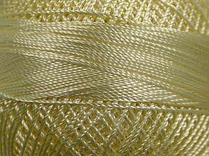 Fiber Content 100% Micro Fiber, Brand YarnArt, Light Yellow, Yarn Thickness 0 Lace  Fingering Crochet Thread, fnt2-17309