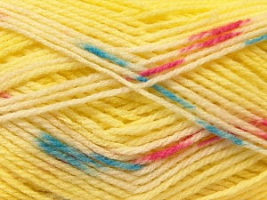 Fiber Content 100% Baby Acrylic, Yellow, White, Pink, Brand ICE, Blue, Yarn Thickness 2 Fine  Sport, Baby, fnt2-22042