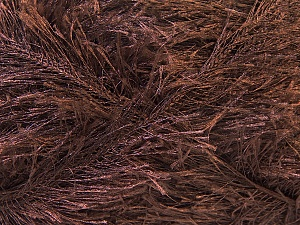 Fiber Content 100% Polyester, Brand ICE, Dark Brown, Yarn Thickness 5 Bulky  Chunky, Craft, Rug, fnt2-22708