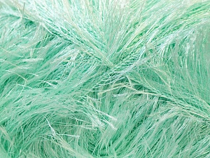 Fiber Content 100% Polyester, Mint Green, Brand Ice Yarns, Yarn Thickness 5 Bulky  Chunky, Craft, Rug, fnt2-22736