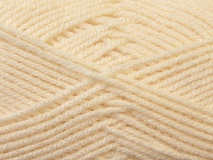 Worsted  Fiber Content 100% Acrylic, Brand ICE, Cream, Yarn Thickness 4 Medium  Worsted, Afghan, Aran, fnt2-23722