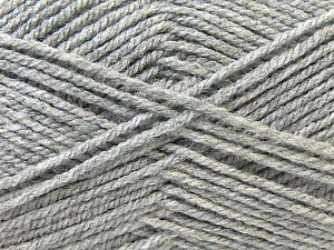 Worsted  Fiber Content 100% Acrylic, Brand ICE, Grey, Yarn Thickness 4 Medium  Worsted, Afghan, Aran, fnt2-23889