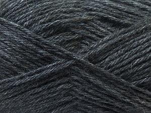Fiber Content 70% Dralon, 30% Alpaca, Brand Ice Yarns, Dark Grey, Yarn Thickness 4 Medium  Worsted, Afghan, Aran, fnt2-25373