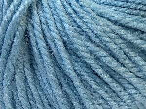 Fiber Content 40% Acrylic, 35% Wool, 25% Alpaca, Light Blue, Brand ICE, Yarn Thickness 5 Bulky  Chunky, Craft, Rug, fnt2-25405