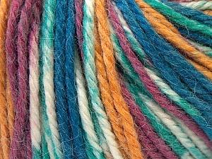 Fiber Content 40% Acrylic, 35% Wool, 25% Alpaca, White, Purple, Navy, Brand ICE, Gold, Yarn Thickness 5 Bulky  Chunky, Craft, Rug, fnt2-25418