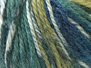 Fiber Content 40% Acrylic, 35% Wool, 25% Alpaca, Navy, Khaki, Brand ICE, Green, Blue, Yarn Thickness 5 Bulky  Chunky, Craft, Rug, fnt2-25419