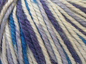 Fiber Content 40% Acrylic, 35% Wool, 25% Alpaca, White, Purple, Brand ICE, Blue, Yarn Thickness 5 Bulky  Chunky, Craft, Rug, fnt2-25420