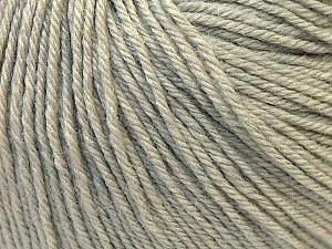 Fiber Content 40% Merino Wool, 40% Acrylic, 20% Polyamide, Light Grey, Brand ICE, Yarn Thickness 2 Fine  Sport, Baby, fnt2-26115